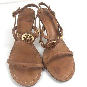 Tory Burch strappy kitten heeled sandals